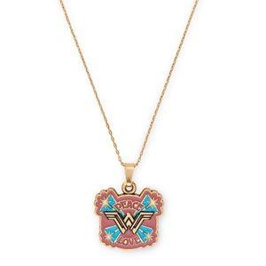Peace Love Wonder Woman Expandable Necklace